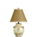 Vietri Rustic Small Round Cream Lamp