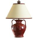 Vietri Rustic Large Shiraz Red Lamp
