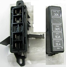 mercury capri fuse box (under hood) / capri fuse box (under hood) - fully  tested - used - modern capri parts - mercury capri parts catalog for models  1991-94  apps.customcart.com